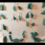 Amazonite rough earrings