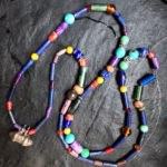 multi-coloured lapis lazuli mala necklace