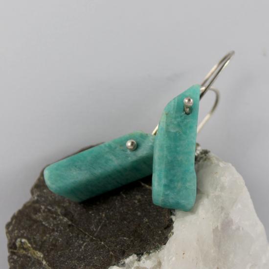 amazonite rough tumbled earrings jewelry