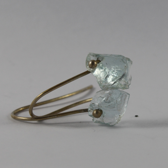 Mozambique aquamarine chip crystal earrings jewellery