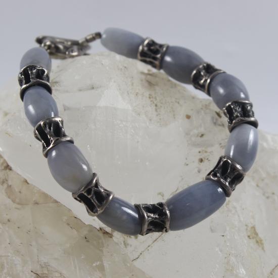 natural gemstone jewellery blue chalcedony Namibia