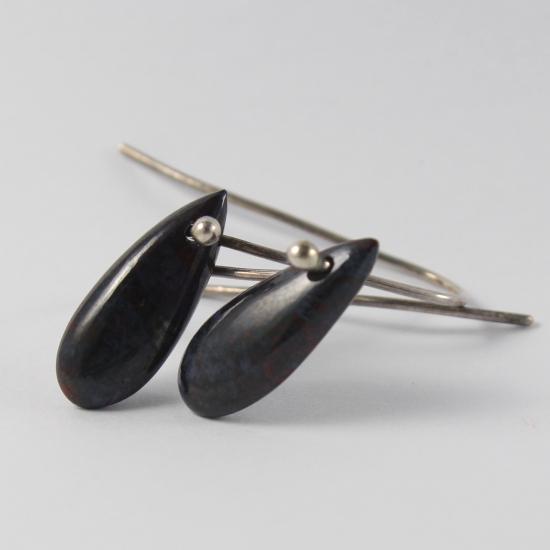 natural sugilite earrings matrix