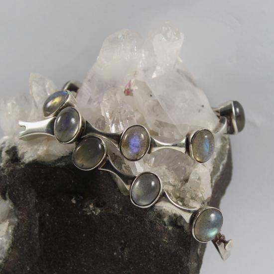 A-grade labradorite feldspar jewellery in silver