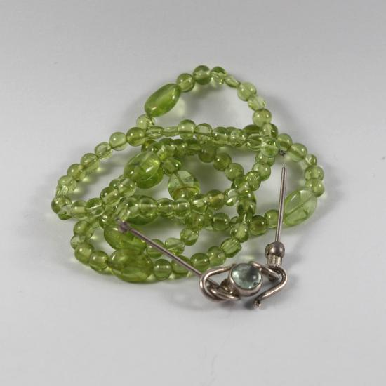 Namibian tourmaline clasp with peridot necklace jewelry