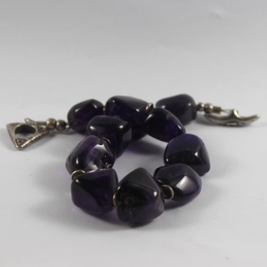 amethyst bracelet natural Zambia and South Africa jewelry