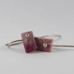 natural sugilite pink slab earrings Kuruman Norhtern Cape