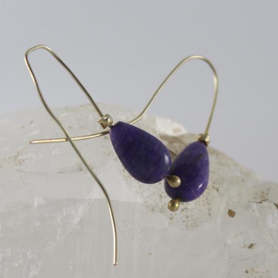 sugilite drop earrings jewelry