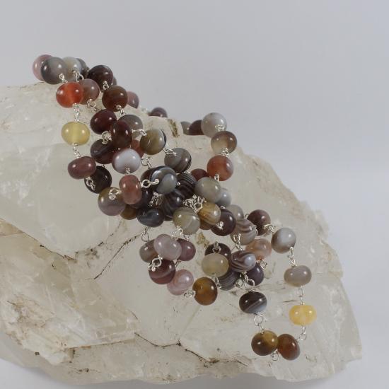 botswana smartie color agate bead jewelry