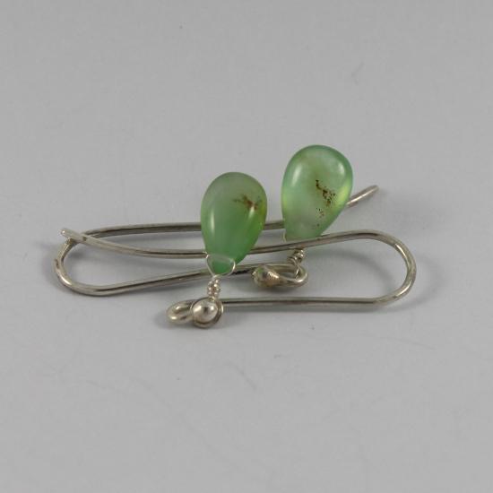 light chrysoprase jewelry earrings