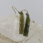 carved jade bamboo earring jewelry with gold shepherd hooks