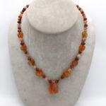 carnelian hart beads necklace with Afghan matt finish beads