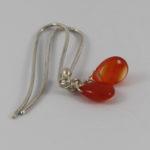 carnelian jewelry earring with silver hooks