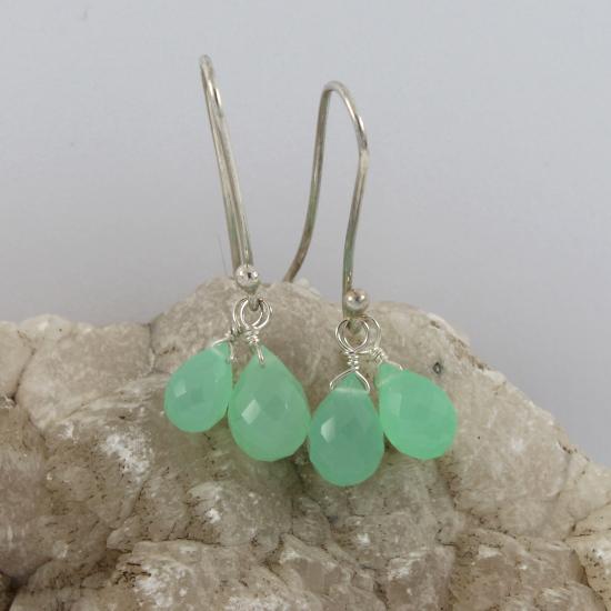Australian natural chrysoprase jewellery earrings