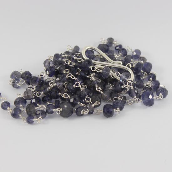 evening blue iolite brilliance necklace jewellery