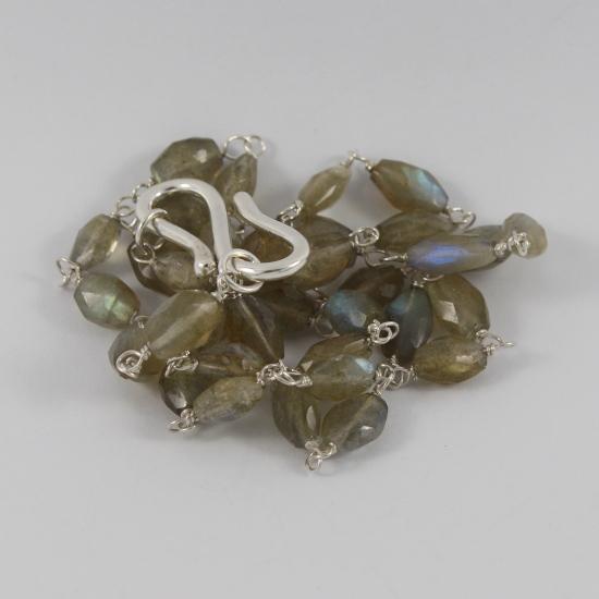 natural labradorite feldspar necklace
