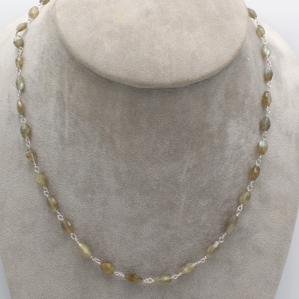 labradorite facets briolette jewelry necklace