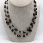 natural Mozambique garnets tumbles jewelry necklace