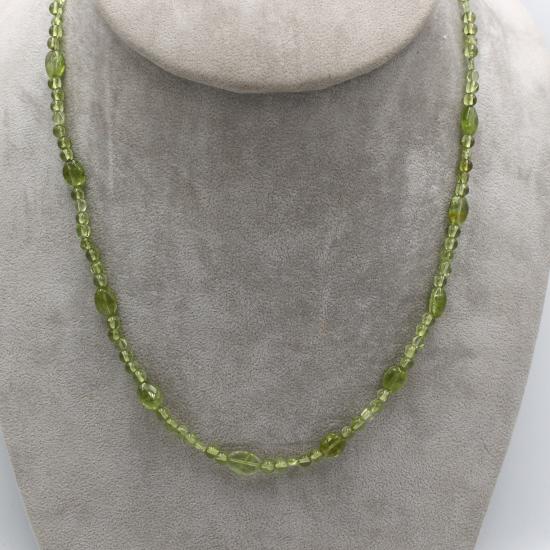 natural Pakistan peridot beads necklace with mani beads
