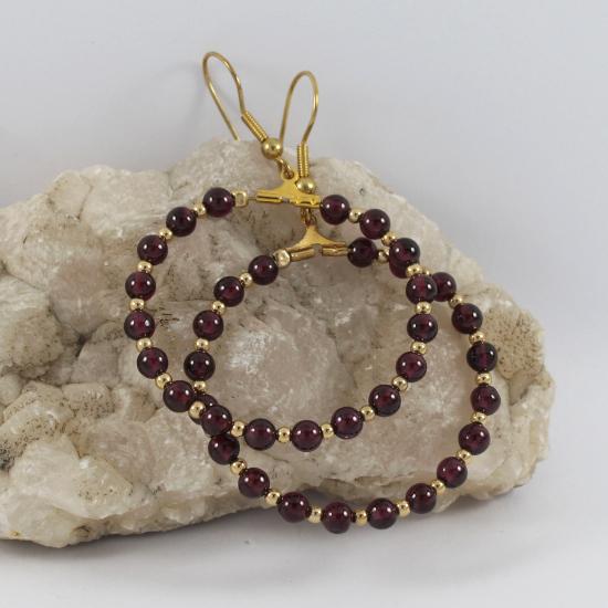 garnet earrings big ring gold