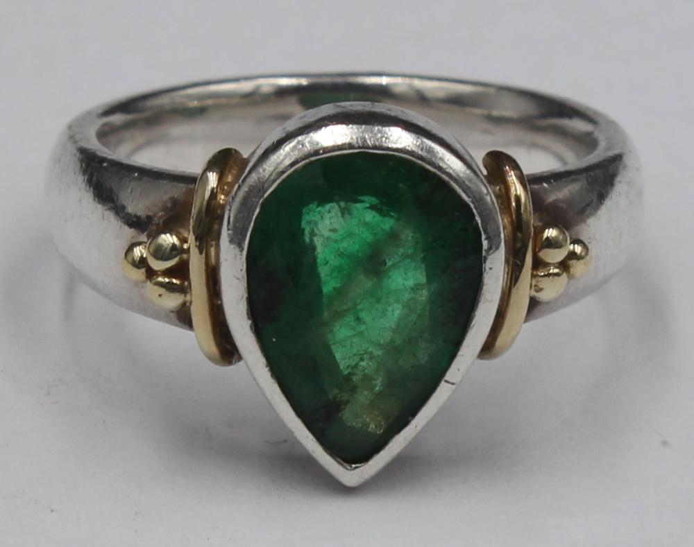 emerald hart shaped ring