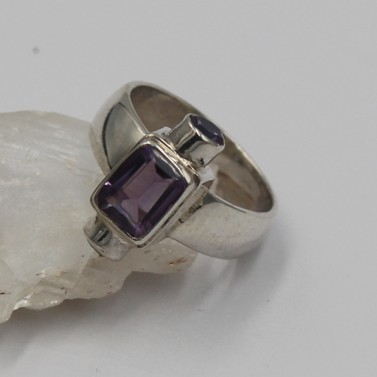 unique amethyst silver jewelry ring