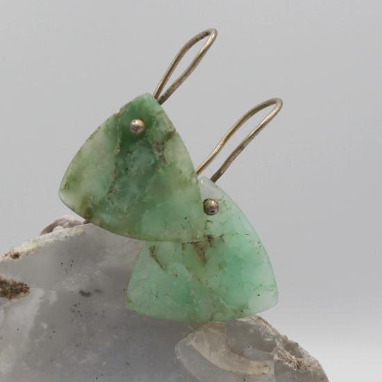 natural chrysoprase jewellery earrings