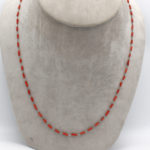 natural coral tube necklace jewelry