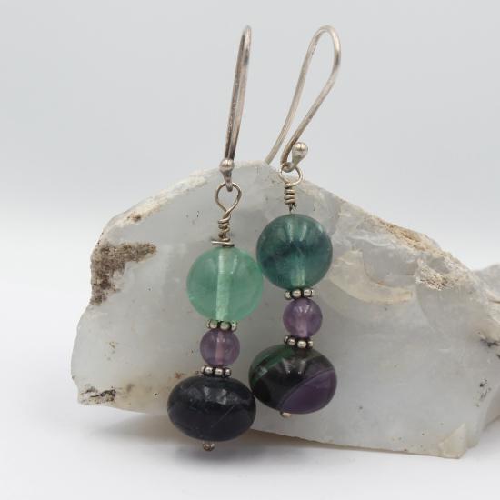 natural fluorite earrings jewelry