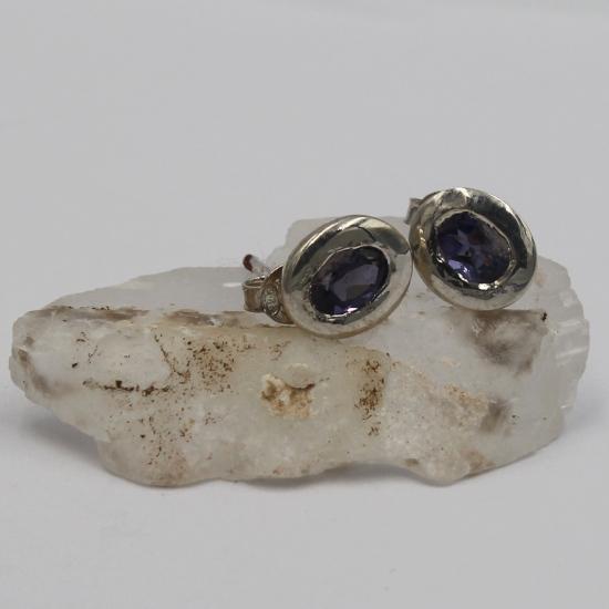faceted iolite earring jewellery gemstones