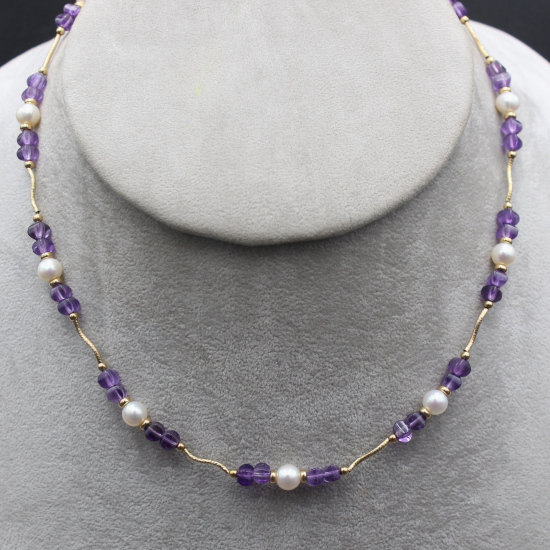 pearl and amethyst unique necklace jewelry jewellery