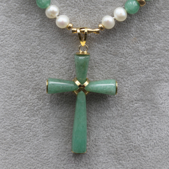 gold aventurine cross