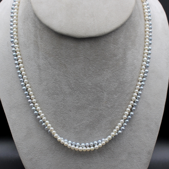 elegant 4mm creamy white pearl necklace