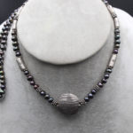 thai pearl and silver necklace
