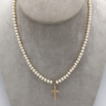 5mm cultured creamy white pearl necklace
