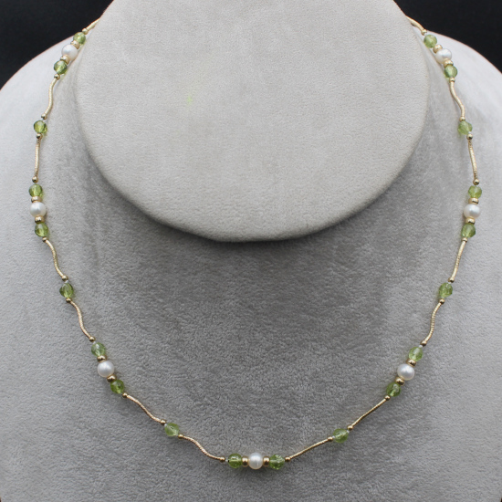 pearl and peridot jewelry necklace