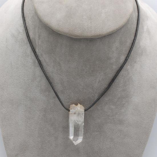 terminated brandberg crystal pendant jewellery