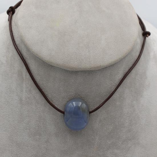 blue chalcedony pendant stone jewellery