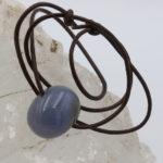 natural blue chalcedony pendant stone jewelry
