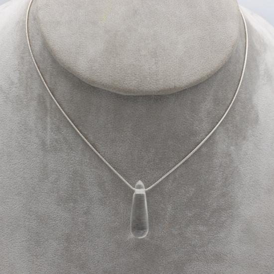 clean quartz pendant